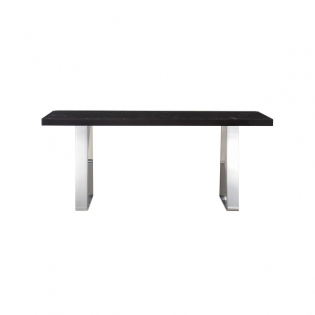 Joplin Dining Table Balck Marble & Stainless Steel