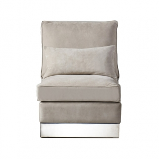 Molley Lounge Chair - Finley Beige Leather