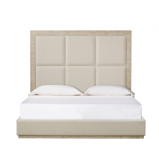 Raffles 6 Panels Bed - US King - Norman Ivory