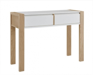 Tuscan Oak & White Console Table With Drawer