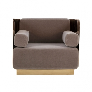 Vinci Occasional Chair - Mirrored Brass / Vic Platinum
